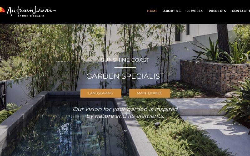 New Website Launch – Autumn Leaves Garden Specialist