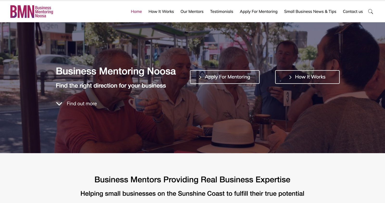 New Website Launch – Business Mentoring Noosa